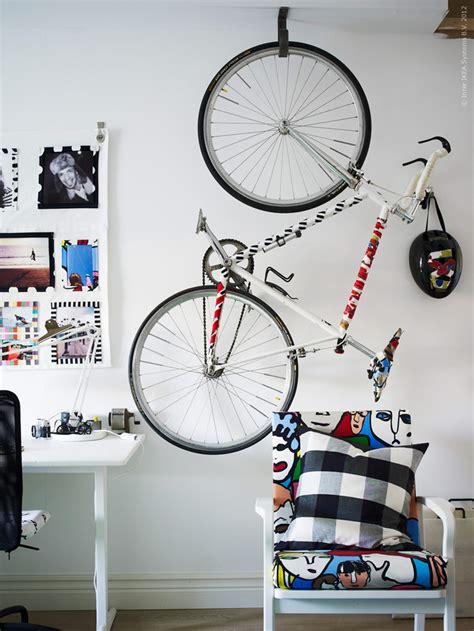 hang your bike from the ceiling bikes pinterest