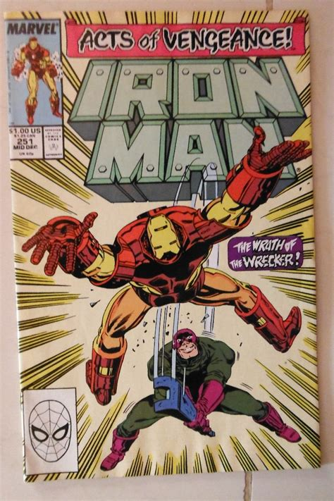libro vengeance of the iron iron man 251 marvel comics 1989 acts of vengeance usa 139 00 en mercado libre