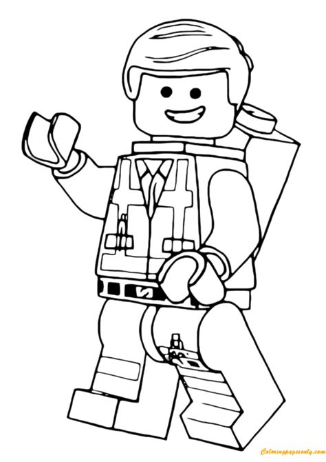 coloring pages of lego movie lego emmet coloring page free coloring pages online