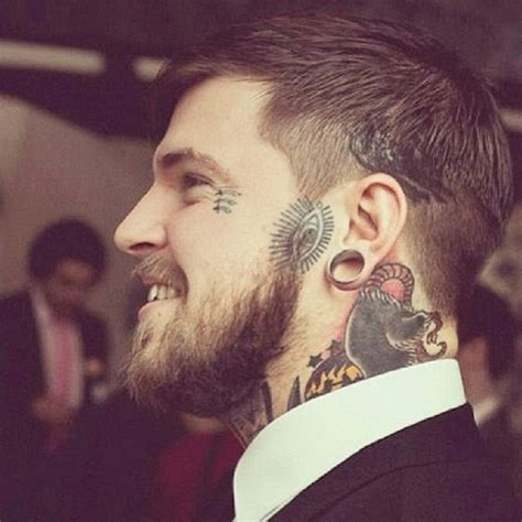 tattoos for men on face with cool tattoos