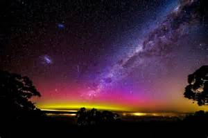 aurora australis at mt baw baw victoria abc news