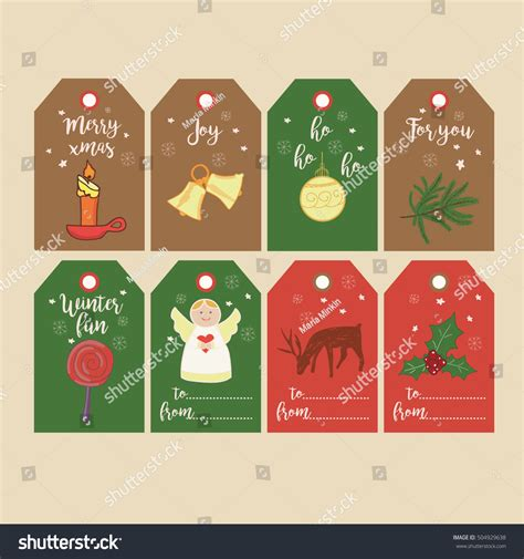 printable decorative gift tags set of christmas gift tags and labels with hand drawn