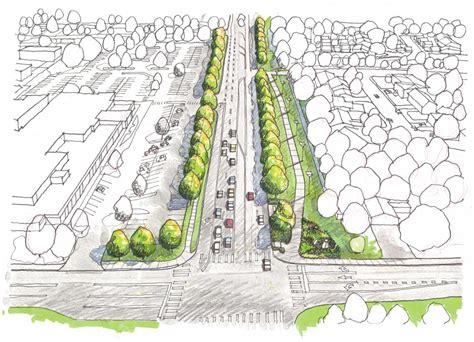 design concept landscape valerian llc alameda streetscape concept landscape