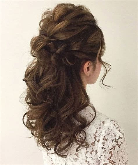 wedding hair half up half curls gorgeous half up half hairstyles curly hairstyles