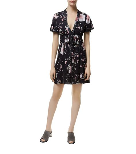 Delias Floral Print Satin Dress by Delia Floral Print Silk Satin Dress In