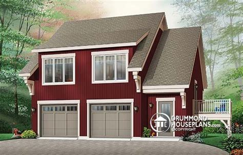 Garage Apartment Plans With Balcony by W3933 Garage Apartment House Plan With 2 Bedrooms Open