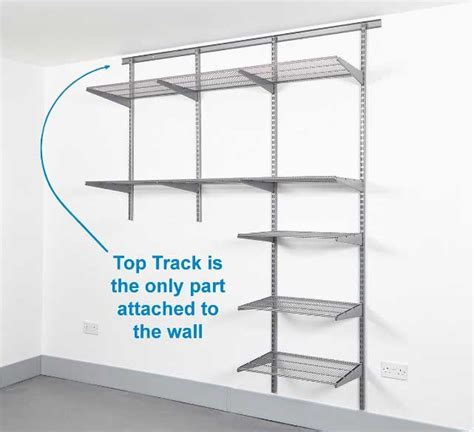 wall mounted shelving systems for garage ideas home