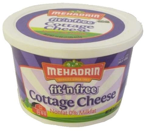 mehadrin fit n free cottage cheese 16 oz