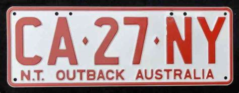 outback number northern territory outback australia license number
