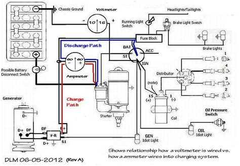 12 volt meter wiring diagram 12 volt voltage meter wiring