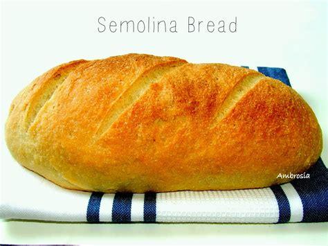 ambrosia semolina bread vegan