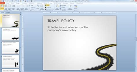 Sle Human Resources Policies And Procedures Autos Post Employee Handbook Template Powerpoint