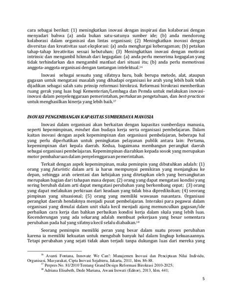 Revitalisasi Administrasi Negara Reformasi Birokrasi wisber inovasi pengembangan kapasitas sdm