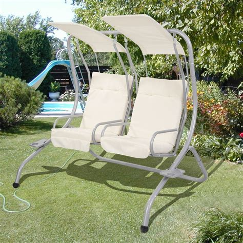 swing chairs for patio garden patio metal swing chair seat 2 seater hammock