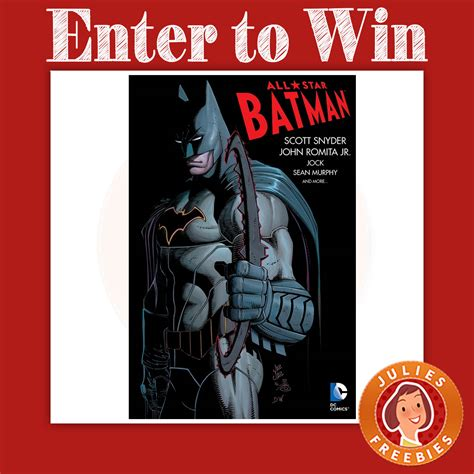 Comic Sweepstakes - win the dc all star batman comic book sweepstakes julie s freebies