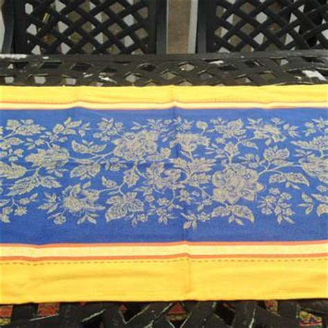 yellow pattern table runner french country tablecloth lemons pattern cotton 61 quot x