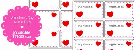free printable valentine name tags valentines day heart name tags printable treats com