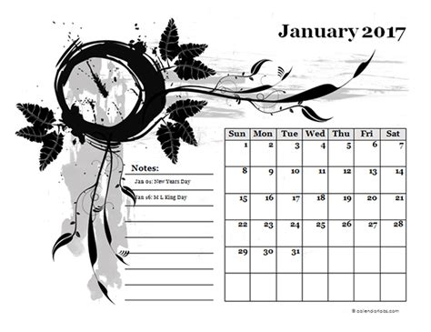 Calendar Design Templates Free 2017 Monthly Calendar Design Template Free Printable