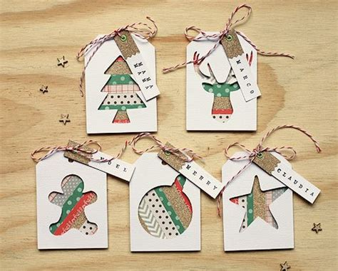 Handmade Gift Tag Ideas - washi gift tags use washi strips in the negative