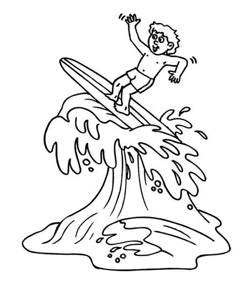 surfing coloring pages www imgkid com the image kid