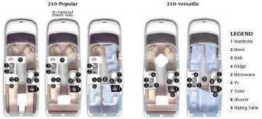 Roadtrek Floor Plans by Roadtrek 210 Class B Motorhome Floorplans Larger Picture