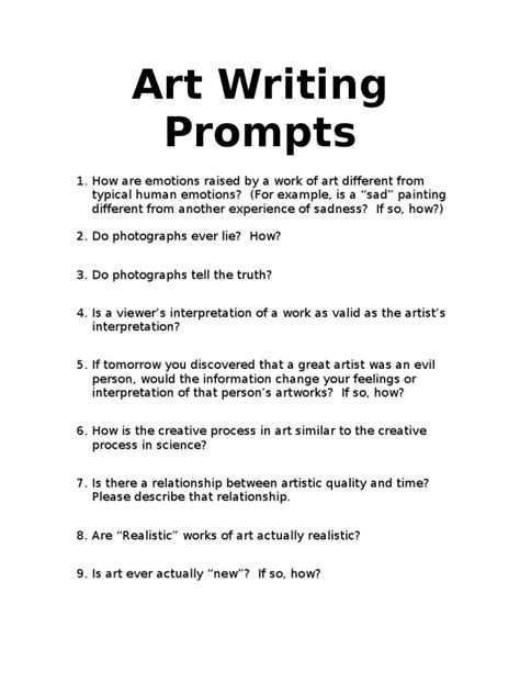 in class essay prompts writing prompts for