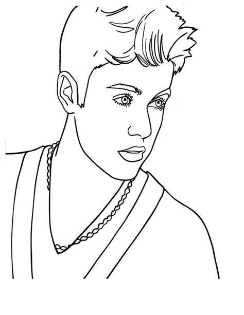 justin bieber 41 celebrities printable coloring pages