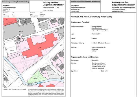 Muster Kã Ndigung Basis Grundst 252 Cksbezogene Basisinformationen Und Liegenschaftskataster Stadt Aalen