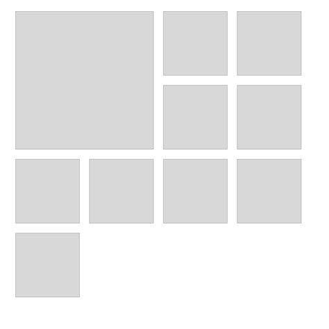 javascript flex layout flexbox gallery style layout with css flex box stack