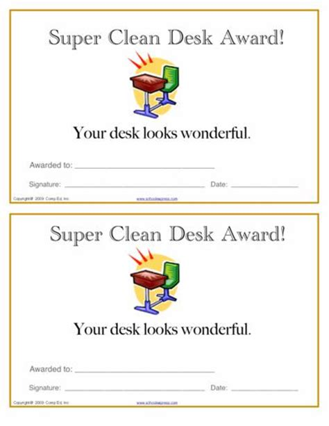 Clean Desk Award by Schoolexpress 19000 Free Worksheets Create Your