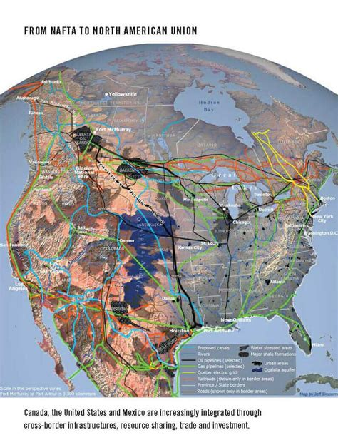 american union map a borderless world maps reveal infrastructure not borders