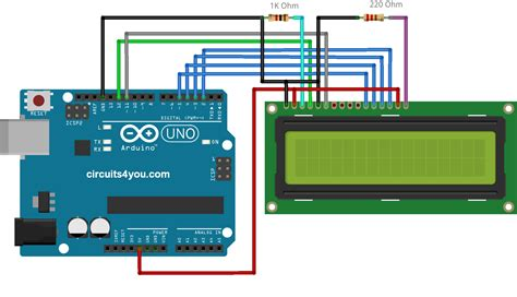 16 215 2 lcd interface with arduino uno circuits4you