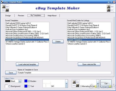Download Free Ebay Template Maker Ebay Template Maker 2 1 0 Download Ebay Templates Free Html Code
