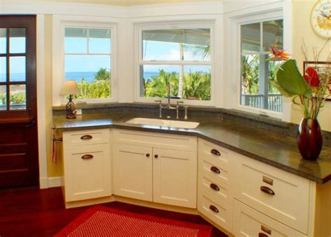 corner kitchen sink designs with a view like this working at the corner sink in kitchen can never be a bore decoist