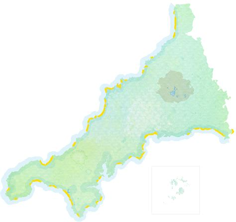 cornwall map maps places in cornwall