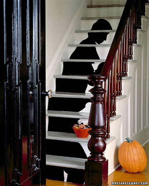 stairs decorations staircase silhouette halloween decorations martha stewart