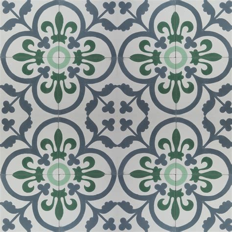 Green Patterned Tiles | madrid green encaustic cement tile madrid green patterned
