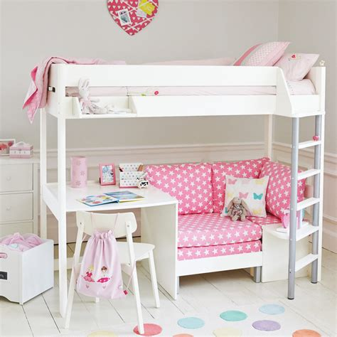 high sleeper beds with desk and futon high sleeper with desk and sofa bed uk brokeasshome com