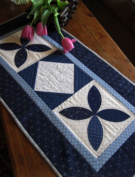 blue pattern table runner pattern blue white applique quilted table runner pattern