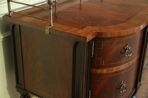 mahogany dining room sideboard brass accents
