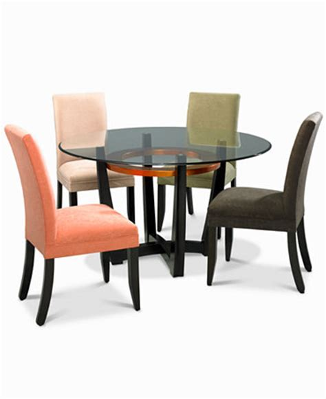 Cappuccino Dining Room Furniture Cappuccino Dining Room Furniture 5 Set Table And 4 Microfiber Chairs Furniture