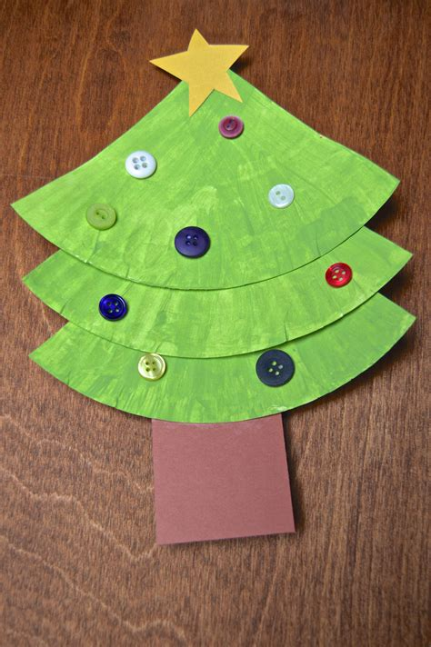 Childrens Paper Crafts - paper plate crafts tree and wreath