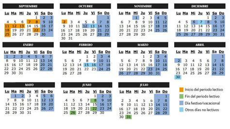 calendario calendario escolar curso 2017 2018