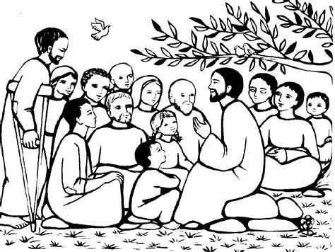 coloring page of jesus teaching god s word to us march 2011