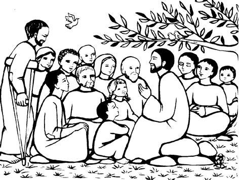jesus preaching in the temple coloring page les b 233 atitudes le blog de jackie