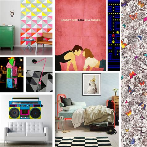 80s decor 1980 s totally rad mood board neon retro interior decor
