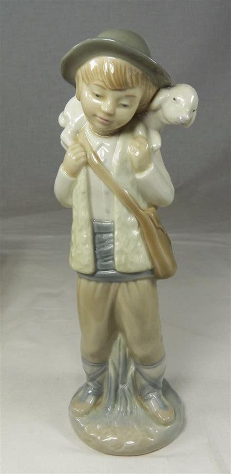 Nao Handmade In Spain By Lladro - lladro nao porcelain figurine boy blue shepherd