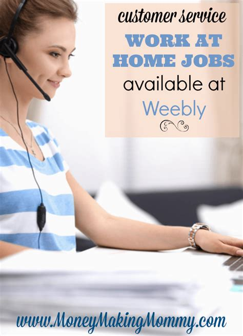 customer service work at home available at weebly