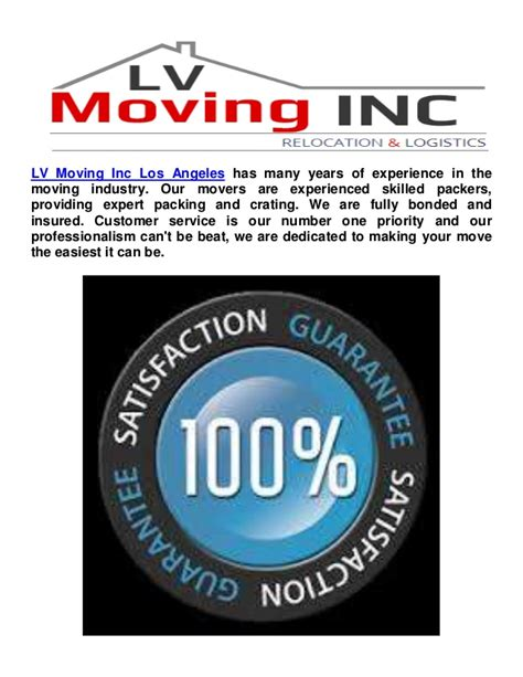 Moving L by Moving Companies In Los Angeles L V Moving Inc Los Angeles