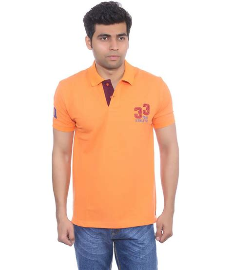 Nexx 46 B by Studio Nexx Orange Cotton Basic Polo T Shirt Buy Studio